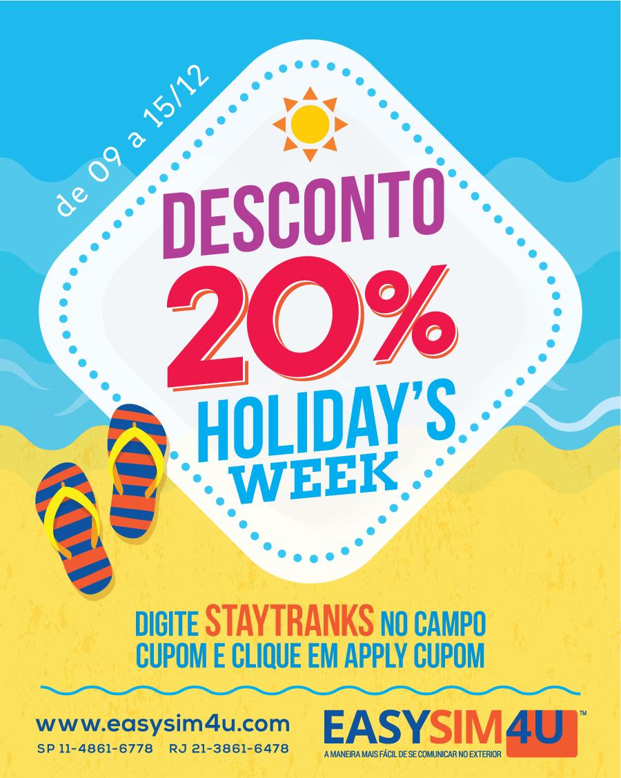 Easysim4u - Cupom Holidays\' Week